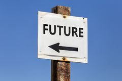 Future word and arrow signpost Royalty Free Stock Photo