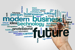 Future word cloud Stock Image