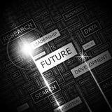 FUTURE. Word cloud illustration. Tag cloud concept collage. Usable for different business design Royalty Free Stock Photo