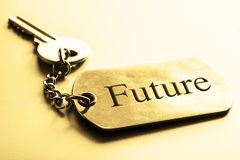 Future word with Key.Business motivation. Concept Royalty Free Stock Photos