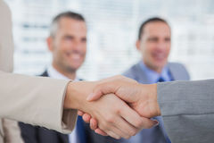 Future workmates shaking hands Stock Photos