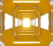 Future Yellow Empty Room Royalty Free Stock Images