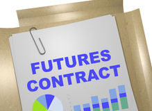 Futures Contract - business concept. 3D illustration of FUTURES CONTRACT title on business document Royalty Free Stock Photography