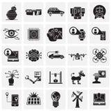 Futures icônes de technologies réglées sur le fond de places pour le graphique et la conception web, signe simple moderne de vect illustration de vecteur