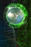 futurisic översikt royaltyfri illustrationer
