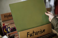 Futurism Music Audio Relaxation Rhythm Vinyl Concept royalty free stock photo