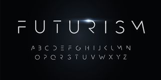 Free Futurism Style Alphabet. Thin Segment Line Font, Minimalist Type For Modern Futuristic Logo, Elegant Monogram, Digital Royalty Free Stock Photography - 163383827