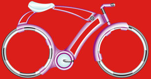 Futurist Bicycle. The perfection of the bicycle. Futuristic extreme bike with fantastic wheels stock illustration