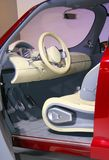 Futurist car interior. Inside view of a Renault car Stock Photography