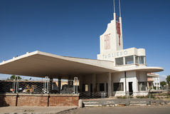 Futurist modernist building in asmara eritrea Royalty Free Stock Photos