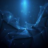 Futurista abstrato - fundo da tecnologia das moléculas ilustração stock