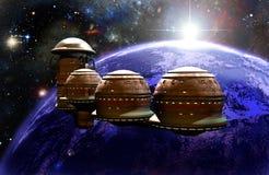 Futurista ISS Immagine Stock