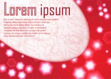Futurista moderno dinámico del certificado de la plantilla roja abstracta de la frontera Imagen de archivo libre de regalías