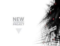Futuristas abstractos se descoloran fondo del negocio de la informática ilustración del vector