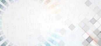 Futuristas abstractos se descoloran fondo del negocio de la informática Imagen de archivo libre de regalías