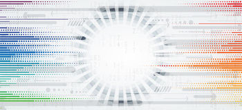 Futuristas abstractos se descoloran fondo del negocio de la informática Imagenes de archivo