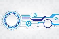 Futuriste-technologie abstraite avec la vitesse sur le fond blanc, illustration de vecteur Image libre de droits
