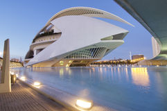 Futuristic. Arts palace queen sofia in the city of arts and sciences, Valencia, Spain stock photo