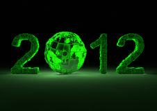 Futuristic 2012 with the planet Royalty Free Stock Photography