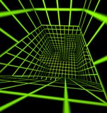 Futuristic 3d render tiled labyrinth Stock Images