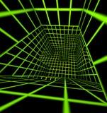 Futuristic 3d render tiled labyrinth Stock Images