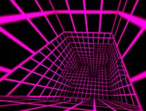Futuristic 3d render tiled labyrinth interior Royalty Free Stock Photo