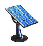 Futuristic 3d solar panel Royalty Free Stock Photos