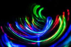 Futuristic abstract background. Of blue, red, yellow colors Royalty Free Stock Photos