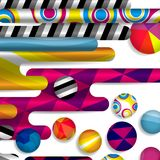 Futuristic abstract background made of rounded shapes. Futuristic vector abstract background made of rounded shapes, stripes, lines and circles with fashion Stock Images