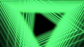 Futuristic abstract background with neon green light triangles, seamless loop. Neon geometric shapes and lines. 4K. Abstract background with neon green light royalty free illustration