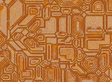 Futuristic abstract backgrounds. digital metal rusty texture Stock Photos