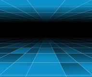 Futuristic abstract blue background Stock Images