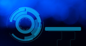 Futuristic abstract blue background Stock Photography