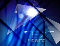 Futuristic abstract blurred flares and colors Royalty Free Stock Photography