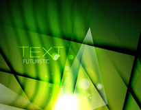 Futuristic abstract blurred flares and colors. Hi-tech futuristic abstract blurred flares and green colors Stock Photo