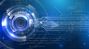 Free Futuristic Abstract Cyber Eye Royalty Free Stock Images - 114239479