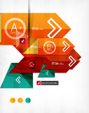 Futuristic abstract 3d infographic composition. Paper geometric shapes with options and space for text. Can be used for web banners, printed materials vector illustration