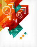 Futuristic abstract 3d infographic composition. Paper geometric shapes with options and space for text. Can be used for web banners, printed materials stock illustration