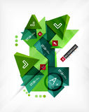 Futuristic abstract 3d infographic composition. Paper geometric shapes with options and space for text. Can be used for web banners, printed materials royalty free illustration