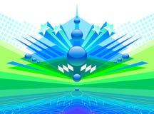 Futuristic abstract design. Vector illustration with futuristic abstract design Royalty Free Stock Photos