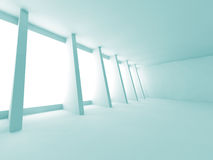 Futuristic Abstract Empty Room Interior Architecture Background. 3d Render Illustration Royalty Free Stock Photo