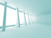 Futuristic Abstract Empty Room Interior Architecture Background. 3d Render Illustration stock illustration
