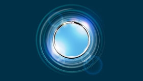 Futuristic abstract metal ring background Stock Image
