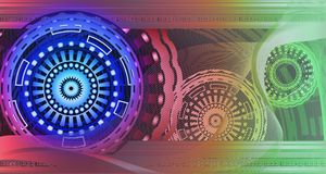 Futuristic abstract pattern with geometric shapes royalty free stock photography