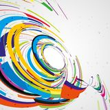 Futuristic abstract shape illustration Royalty Free Stock Image