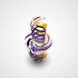 Futuristic abstract shape illustration Royalty Free Stock Image