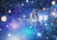 Galaxy and Nebula. Abstract space background. Elements of this Image Furnished by NASA. Stock Images