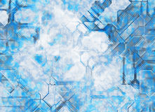Futuristic abstract tech backgrounds. Digital grain texture Royalty Free Stock Image