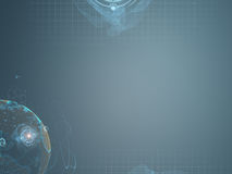 Futuristic abstract technical digital gray blue background Stock Photos