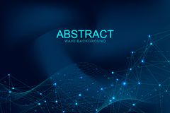 Futuristic abstract vector background blockchain technology. Deep web. Peer to peer network business concept. Global. Cryptocurrency blockchain vector banner royalty free illustration